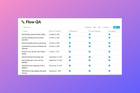 Scared to press publish? See how we QA flows at Appcues