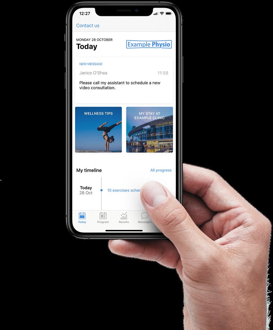 Physitrack custom app