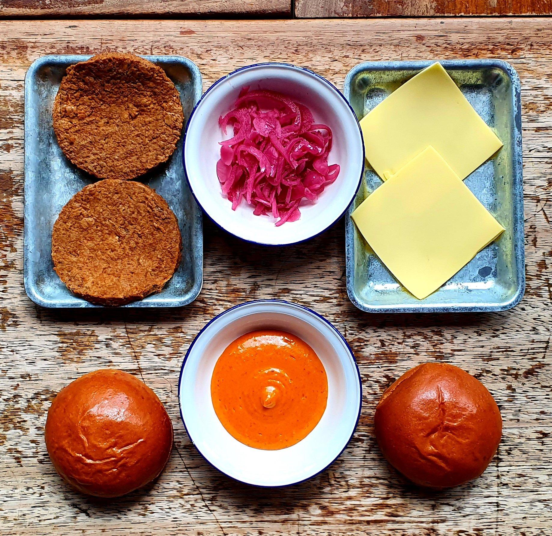 Vegan 'Ari Gold' Burger Kit