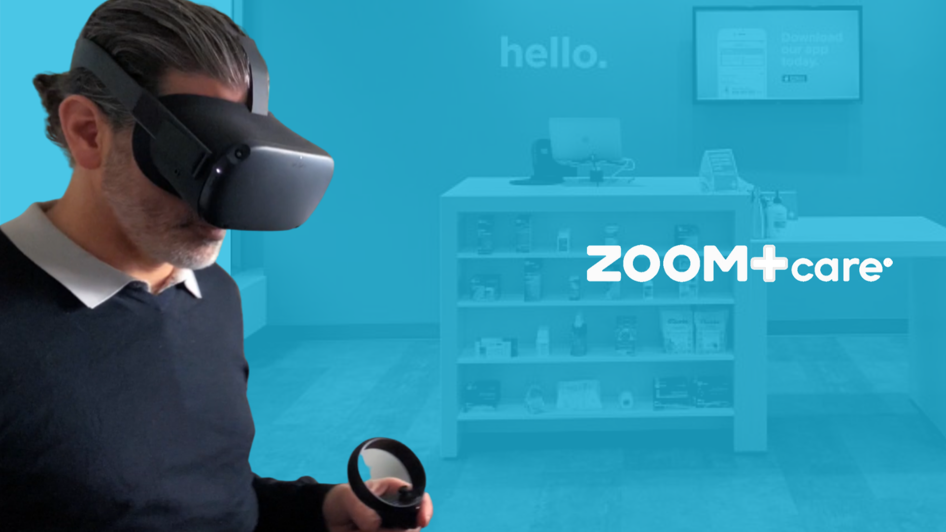 Zoom Care using VR in The Wild