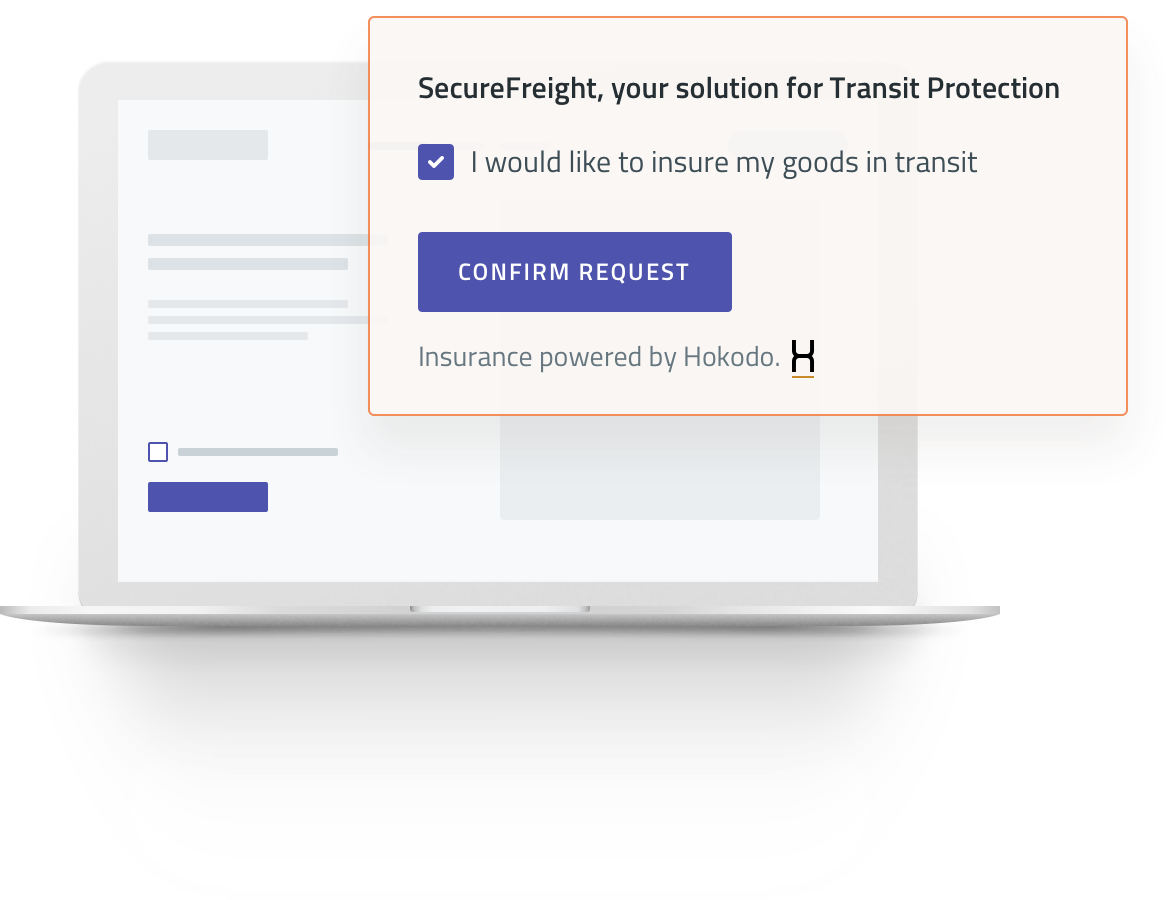 Secure Freight Popup