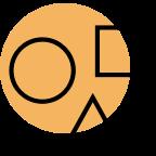 Geometrical shapes icon