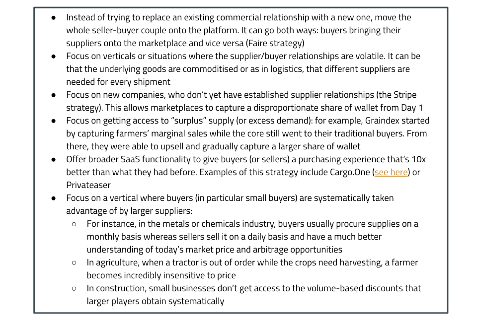 Tips to changing the behaviour of a professional buyer for B2B Marketplaces