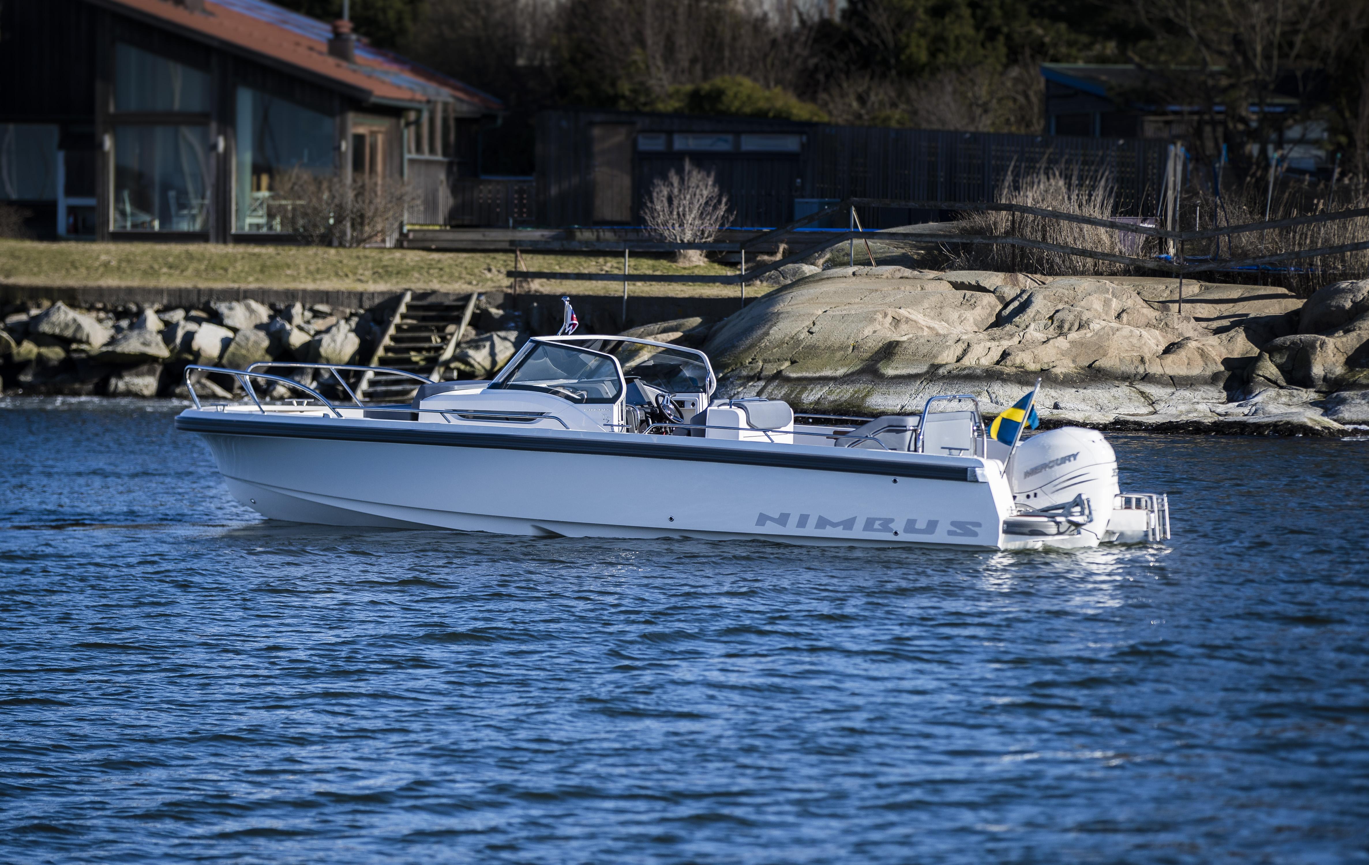 Nimbus boat resting in the water