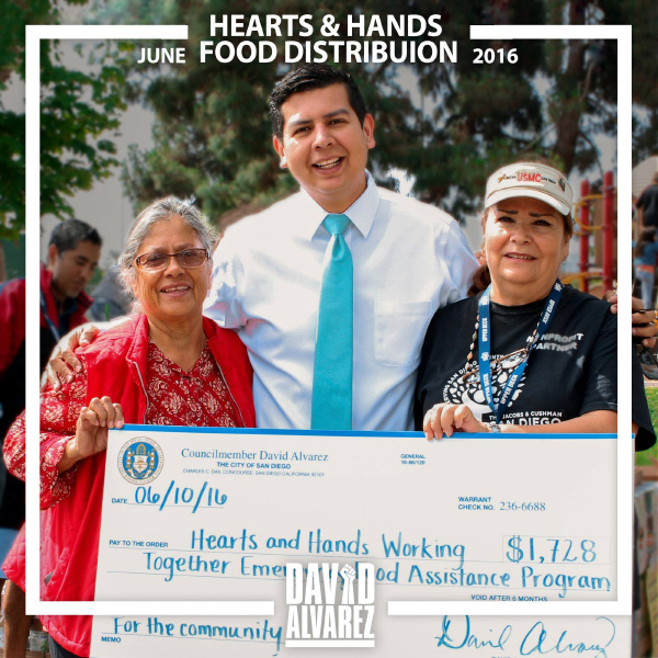 David Alvarez Hearts & Hands Food Distribution Advertisement