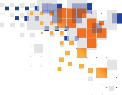 blue, orange and white pixels