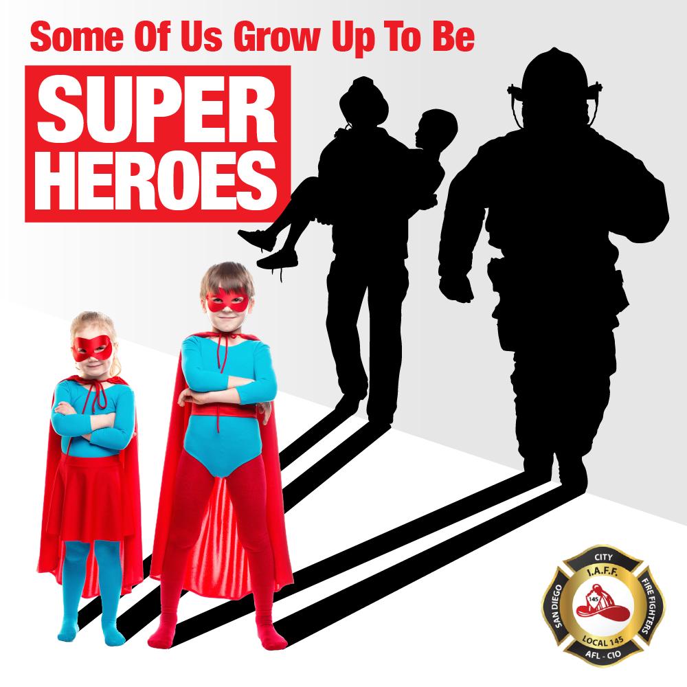Children dressed up as superheros
