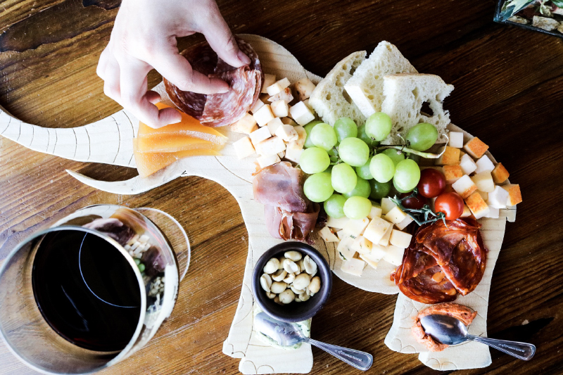 Wine and appetizer board