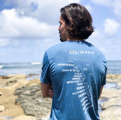 Man with a CaliBaja t-shirt