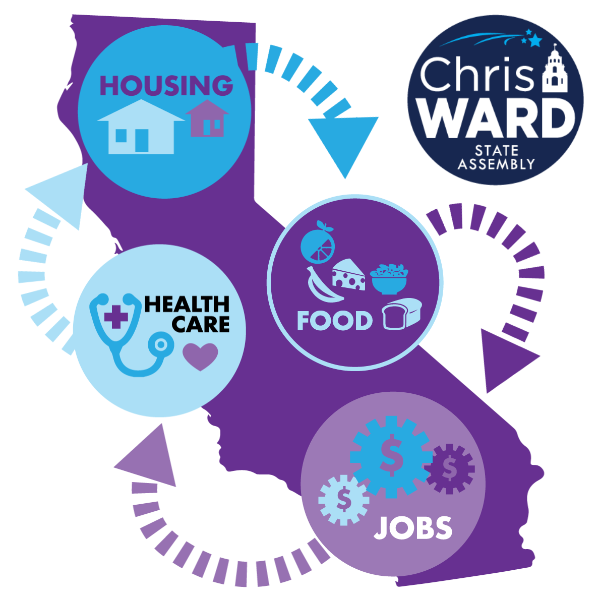 Chris Ward for State Assembly graphic