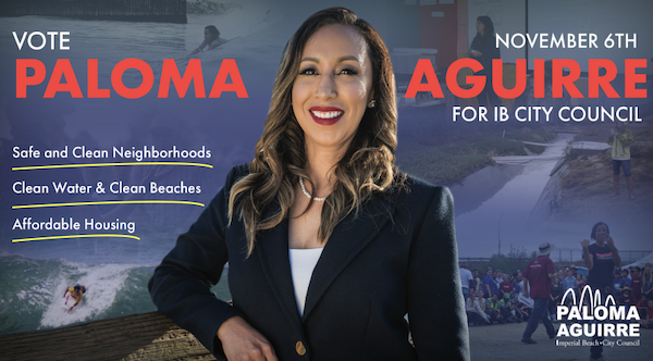 Paloma Aguirre for Imperial Beach City Council mailer.