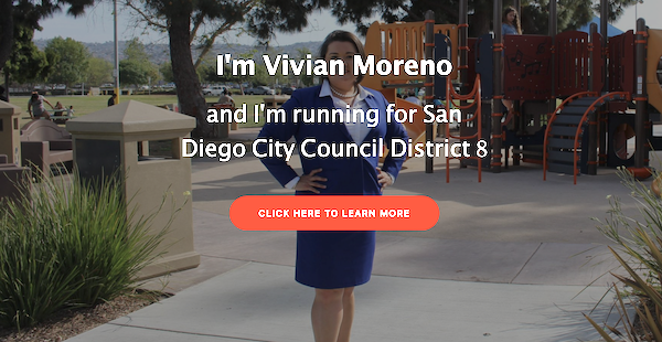 Vivian Moreno for San Diego City Council website.