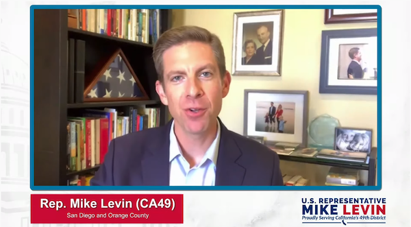 Representative Mike Levin livestream