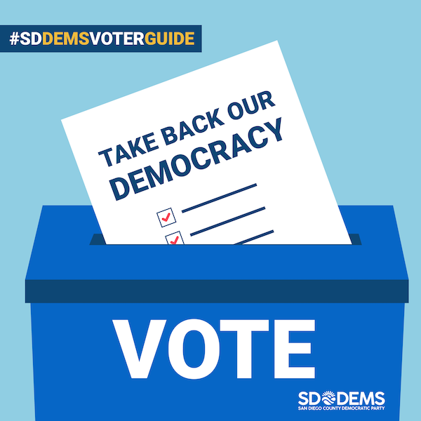 San Diego County Democratic Party voter guide