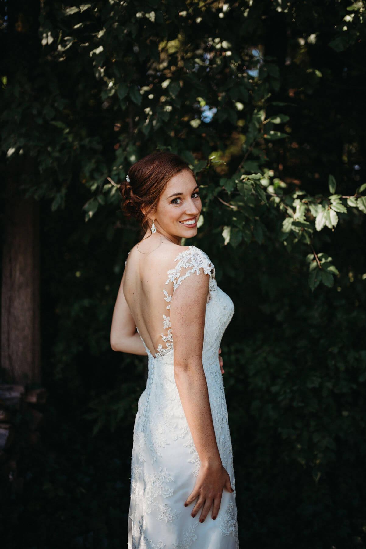 Dress White Richland Michigan Wedding Photography
