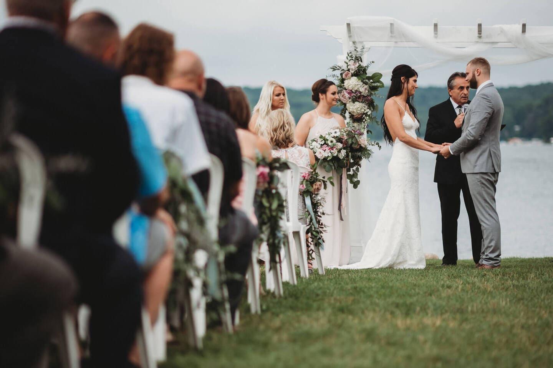 Brides Guests Richland Michigan Wedding Photography