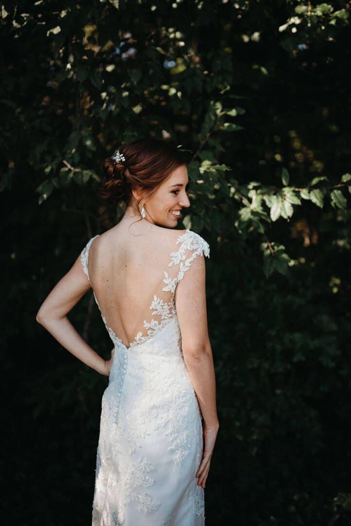 Bride Dress White Richland Michigan Wedding Photography