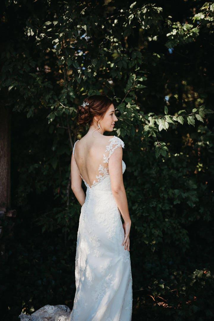 Bride White Dress Richland Michigan Wedding Photography