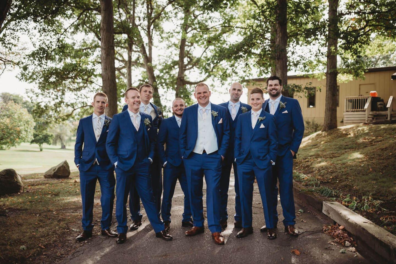 Mens Forest Richland Michigan Wedding Photography