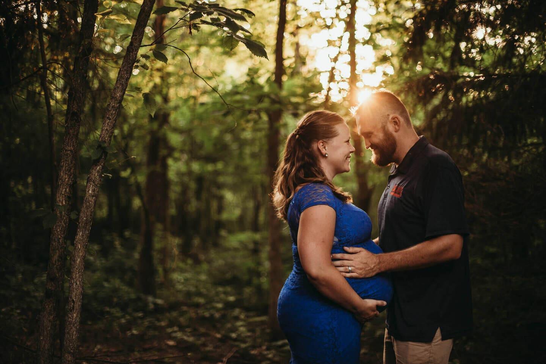 Pregnancy Forest Richland Michigan Wedding Photography