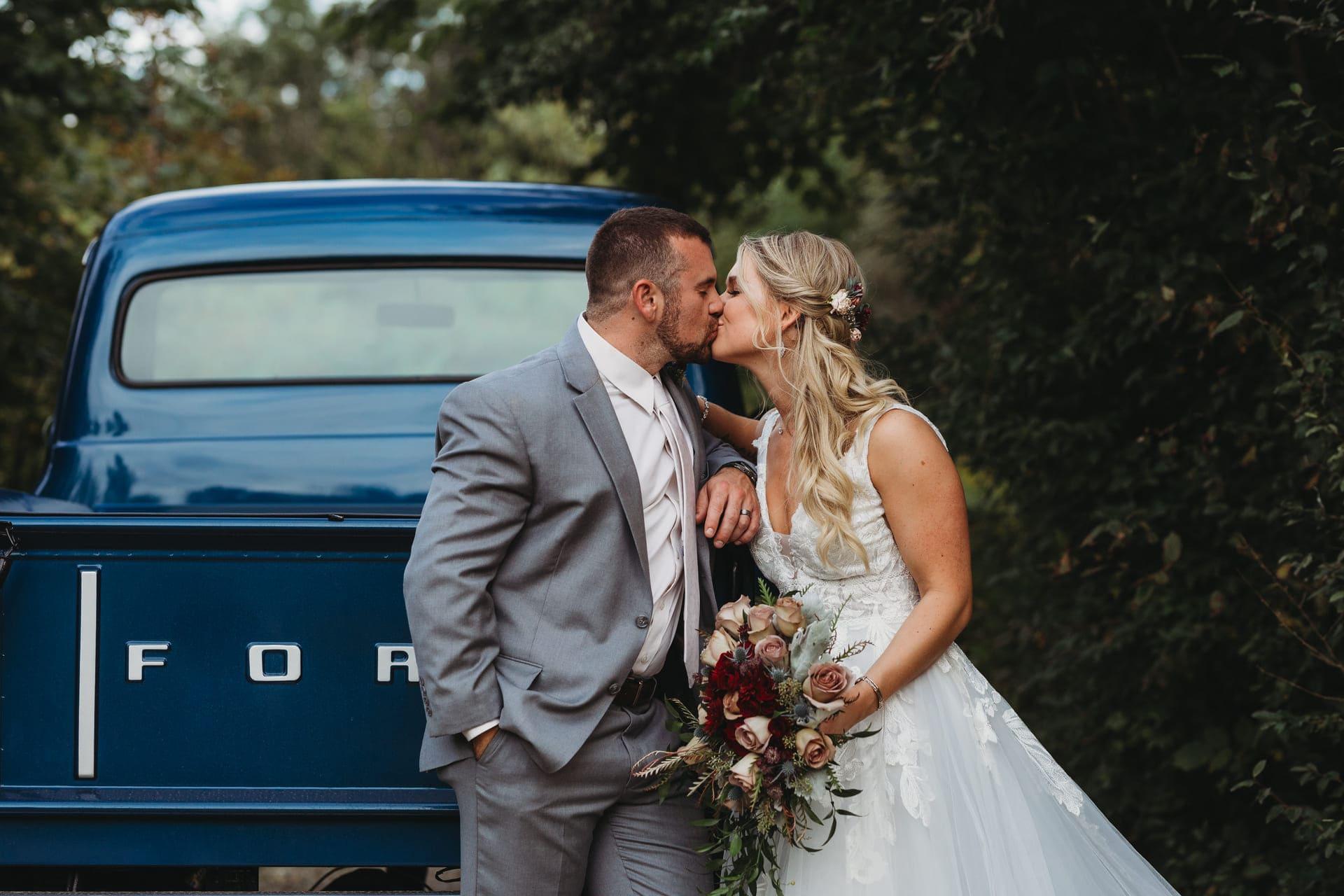 Pair Kiss Richland Michigan Wedding Photography