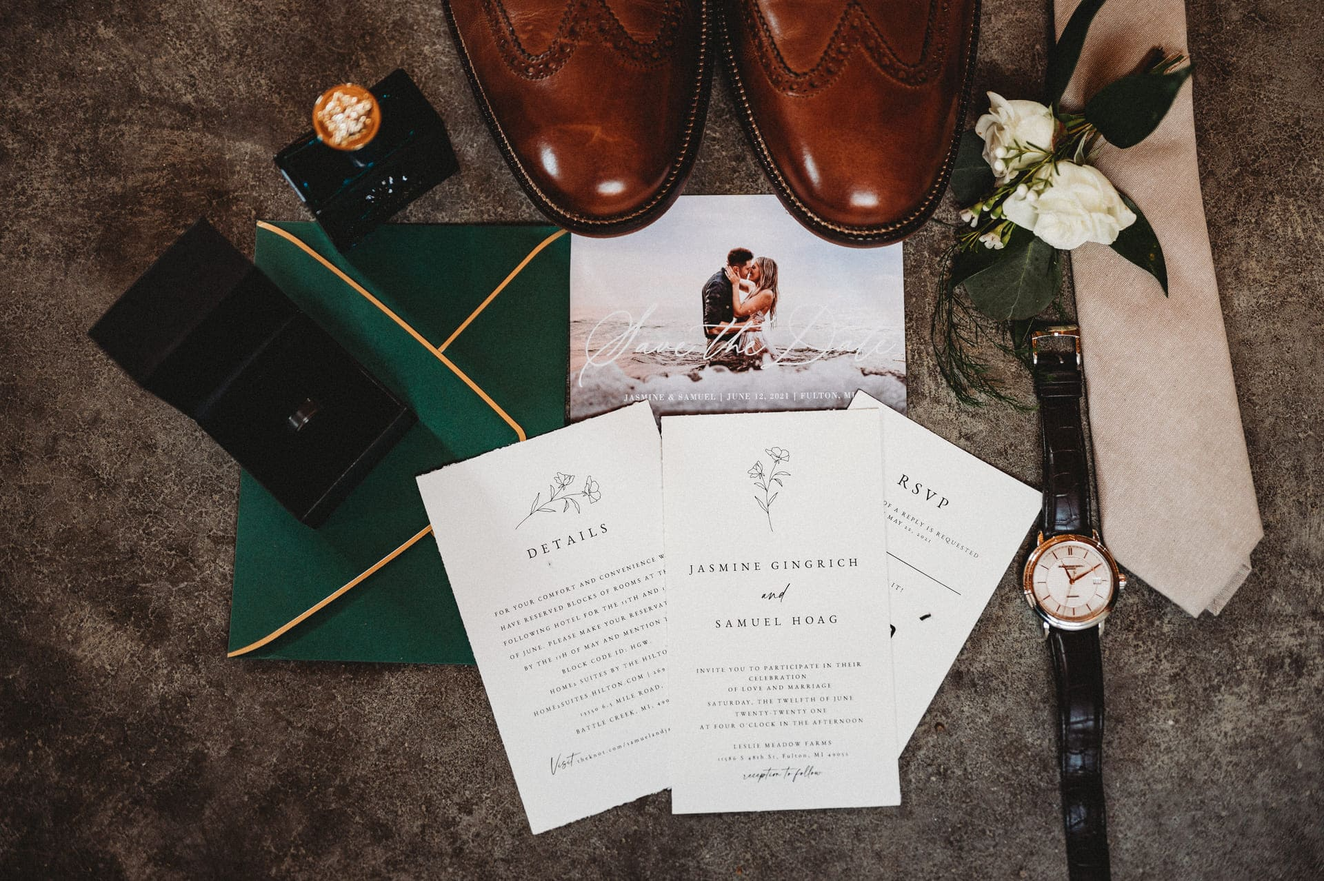 Details Men Richland Michigan Wedding Photography