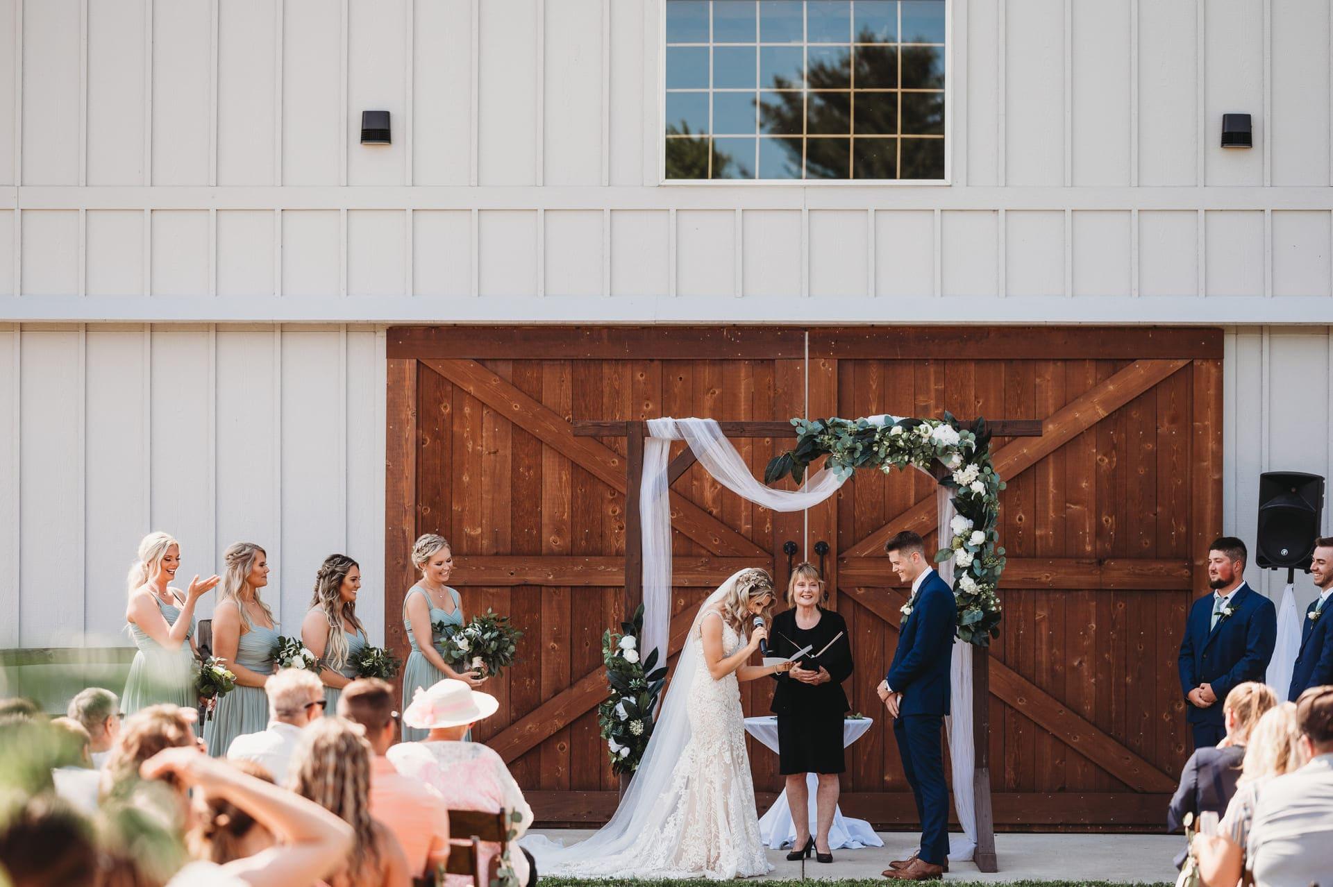 Wedding Ceremony Richland Michigan Wedding Photography