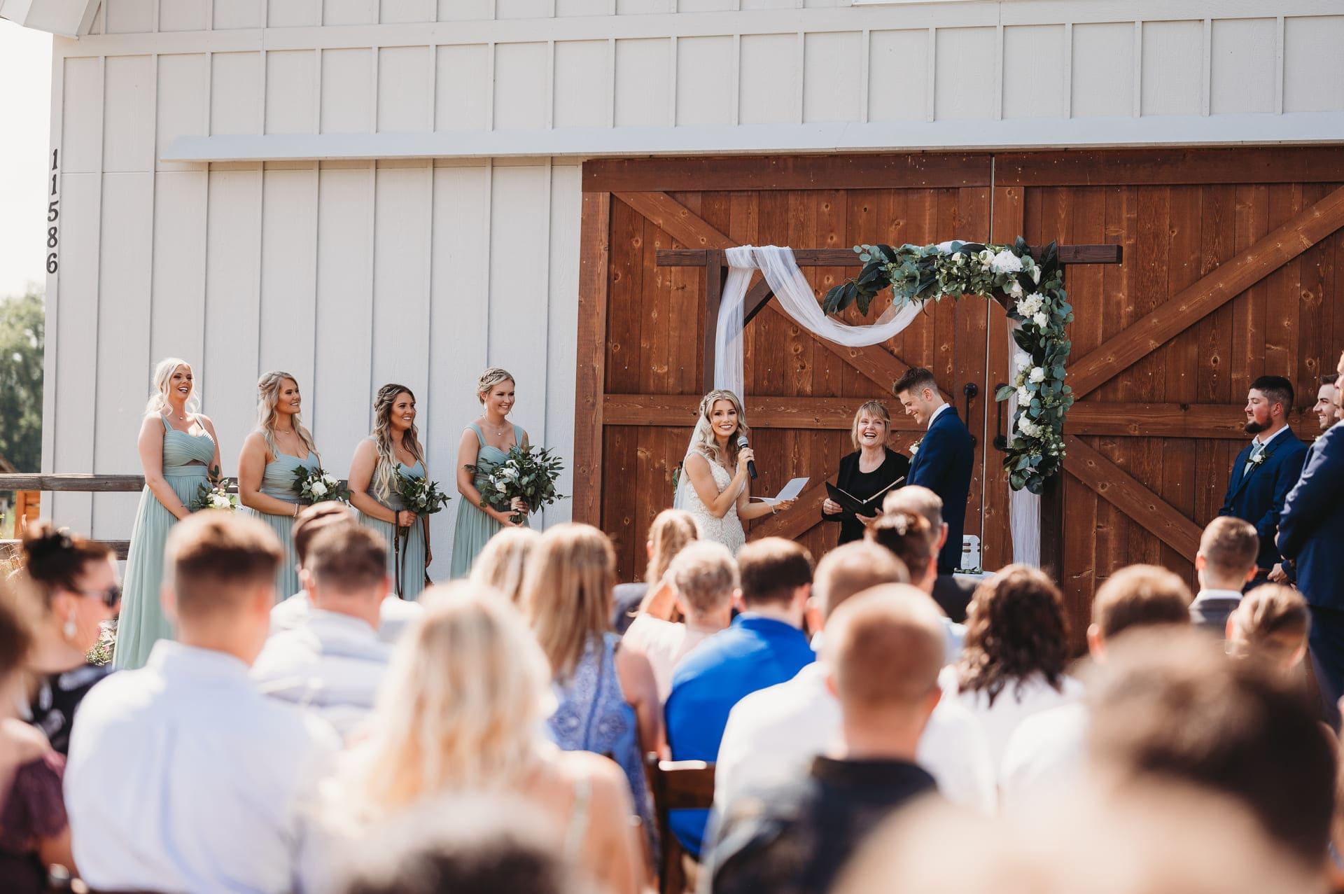 Wedding Ceremony Guests Richland Michigan Wedding Photography