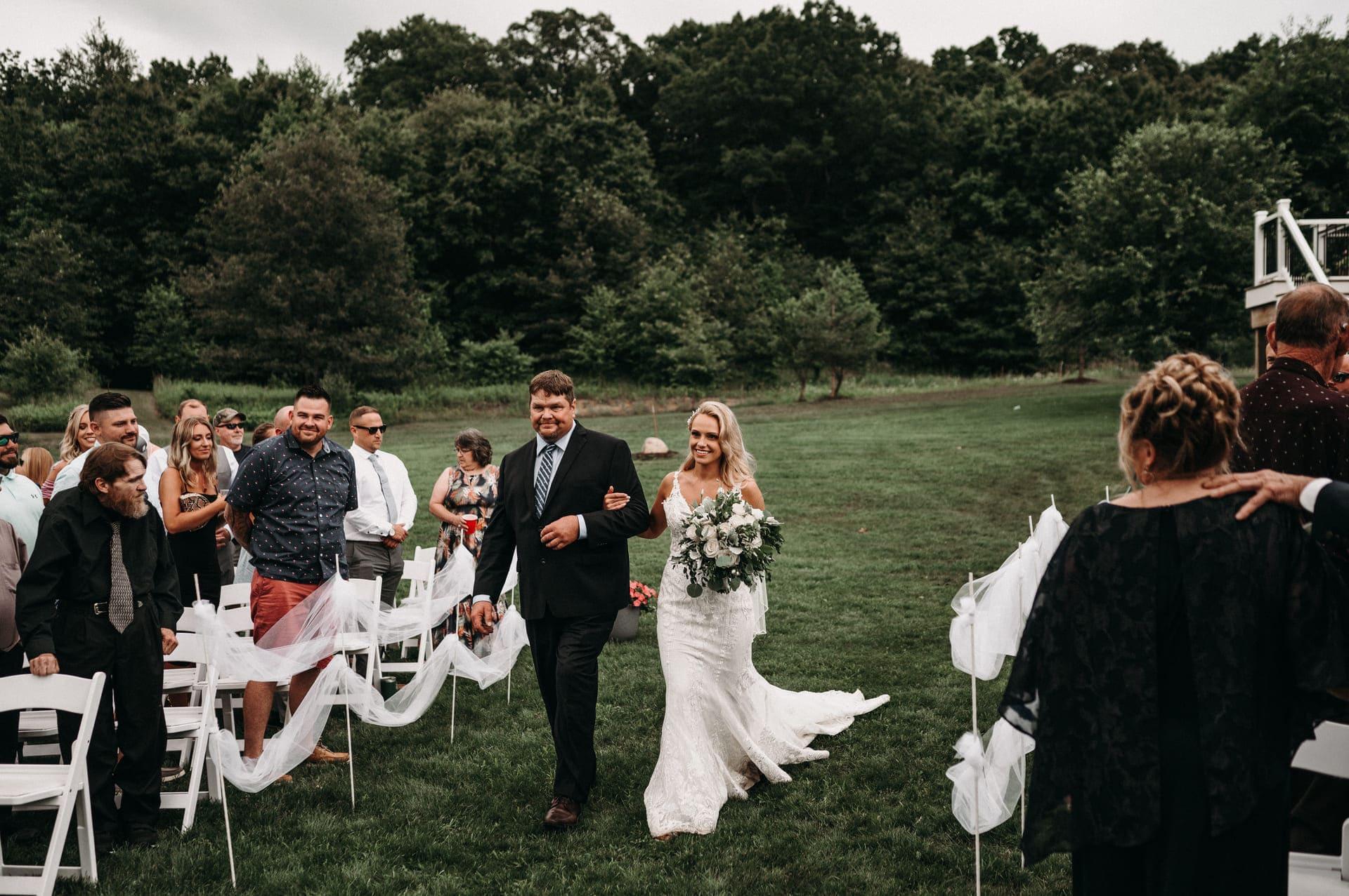 Bride Ceremony Wedding Richland Michigan Wedding Photography