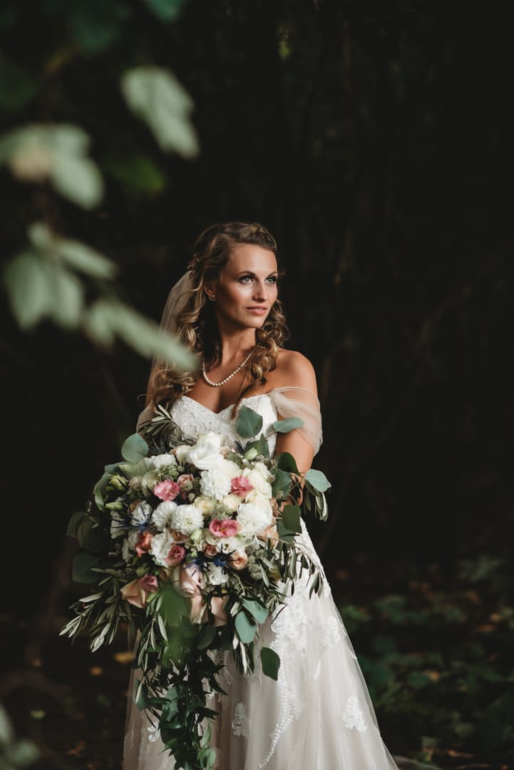 Bride Forest Richland Michigan Wedding Photography