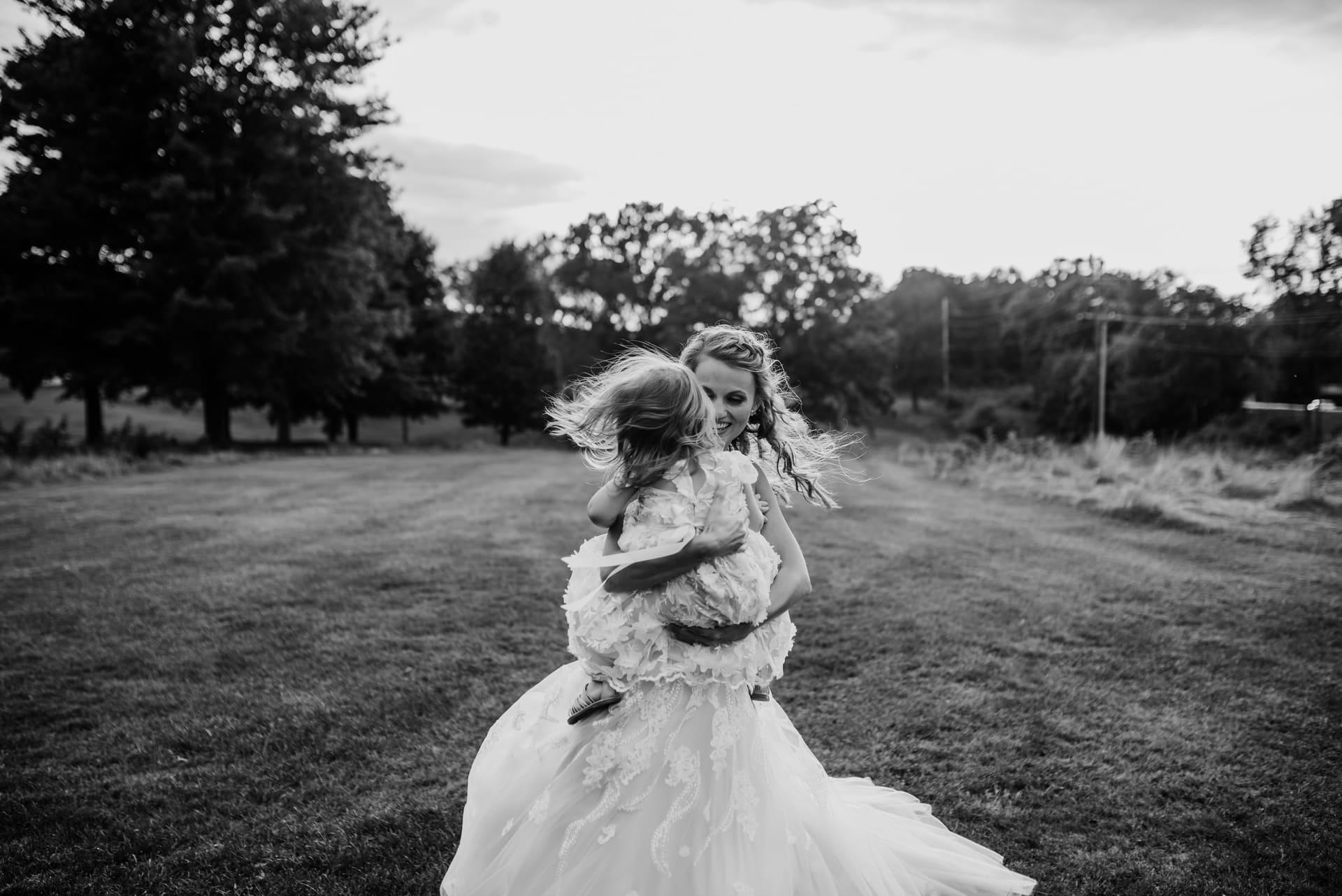 Bride Girl Bnw Richland Michigan Wedding Photography