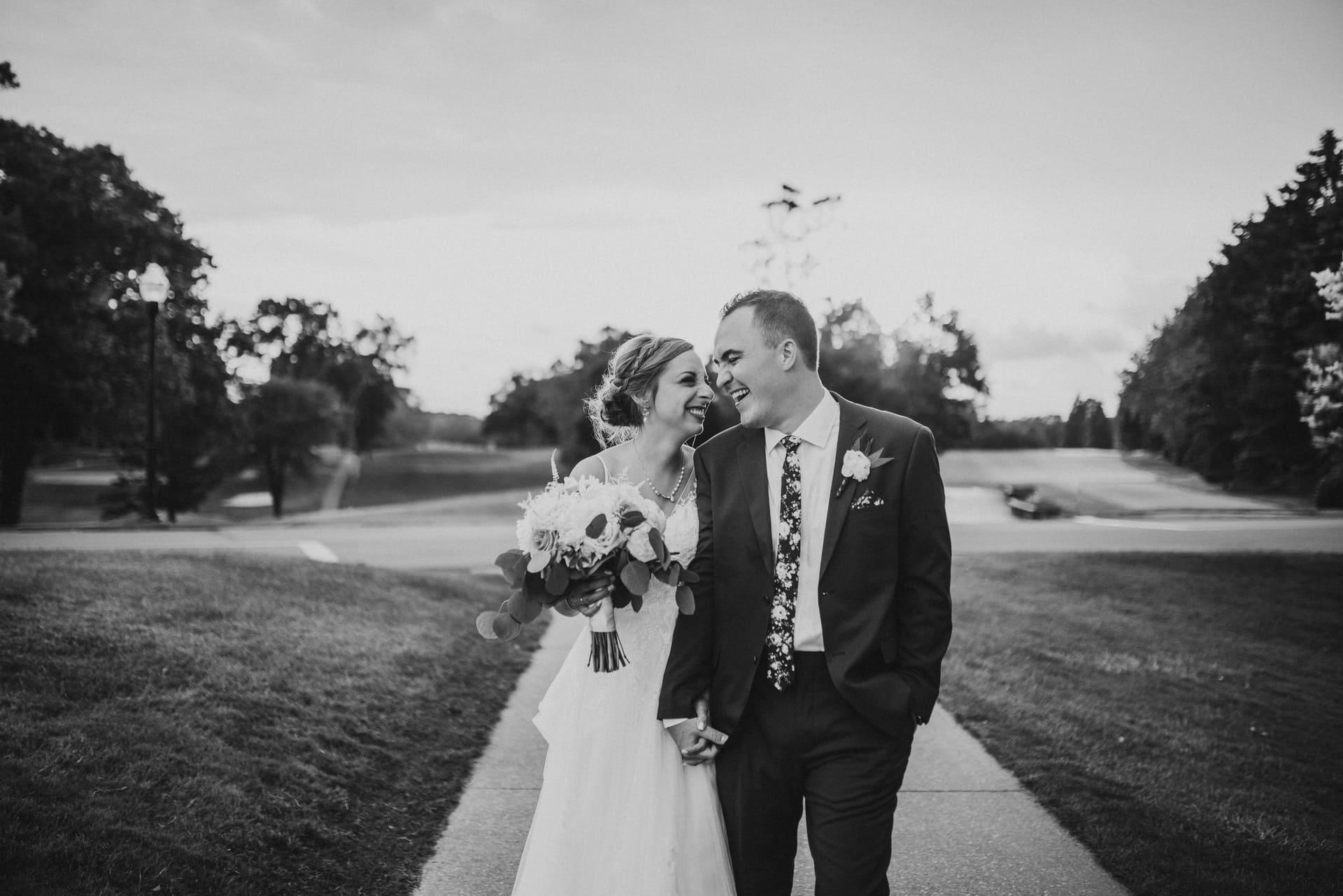 Bnw Smile Richland Michigan Wedding Photography