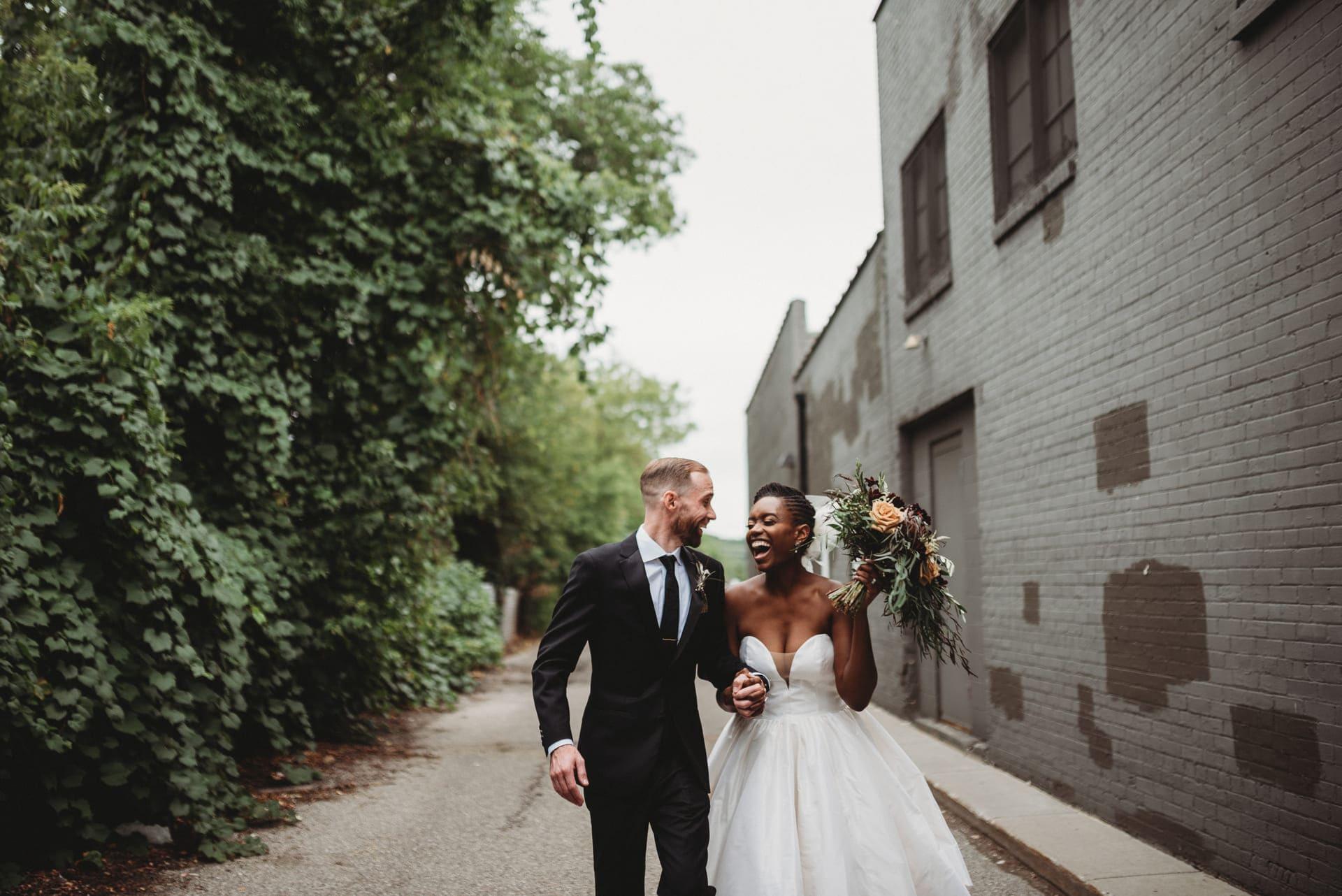 Brides Smile Richland Michigan Wedding Photography