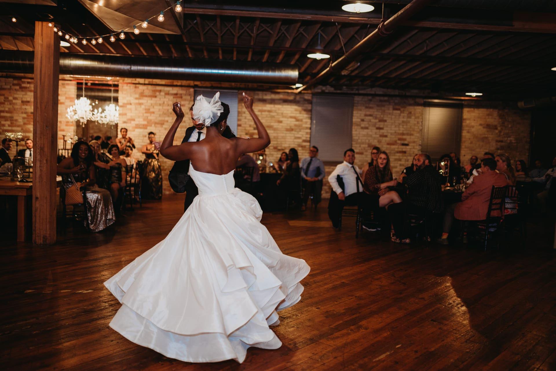 Dancing Bride Richland Michigan Wedding Photography