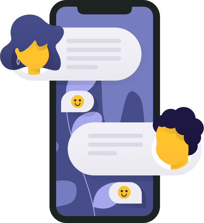 Message conversation on phone