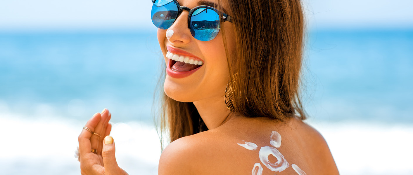 Wear sunscreen to protect your skin against the summer