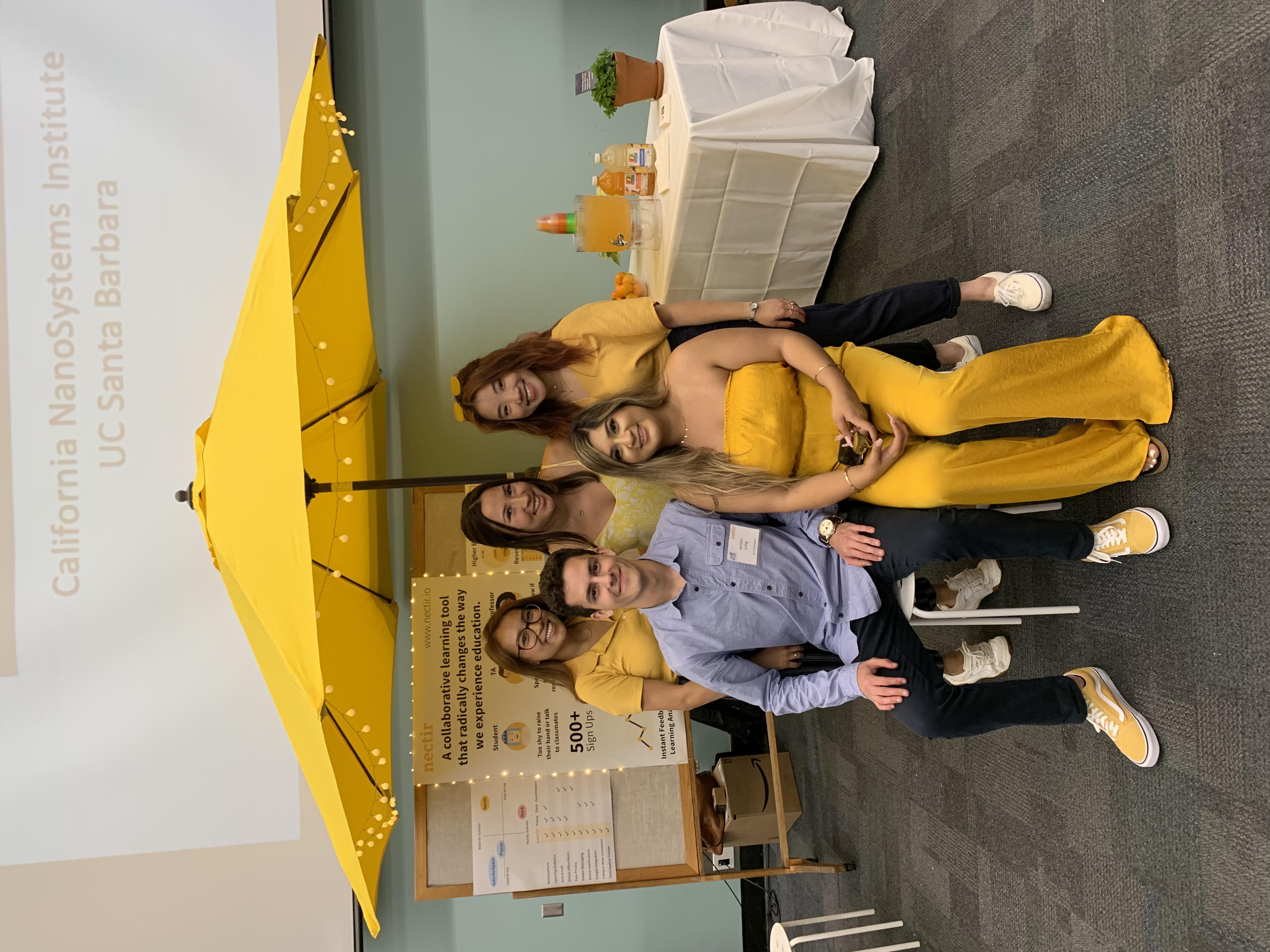 The Nectir team at the UCSB NVC fair.