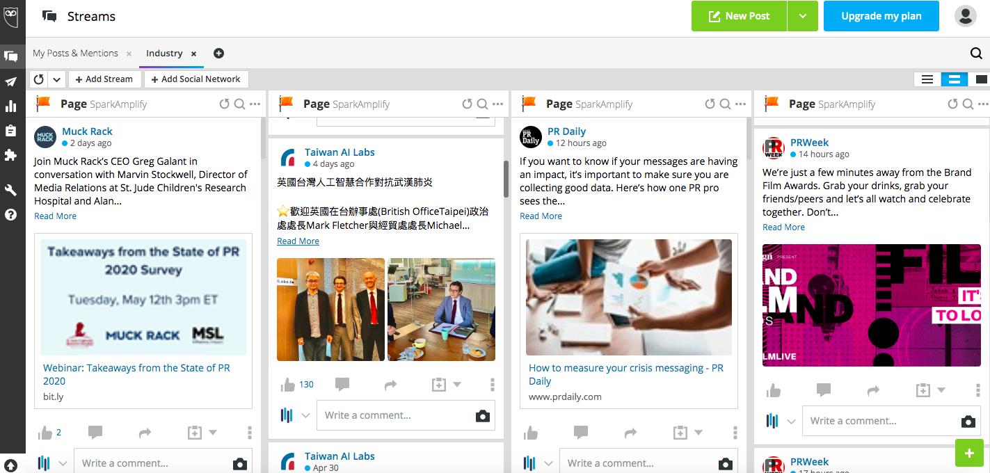 "Hootsuite平台""我的產業內容""畫面"