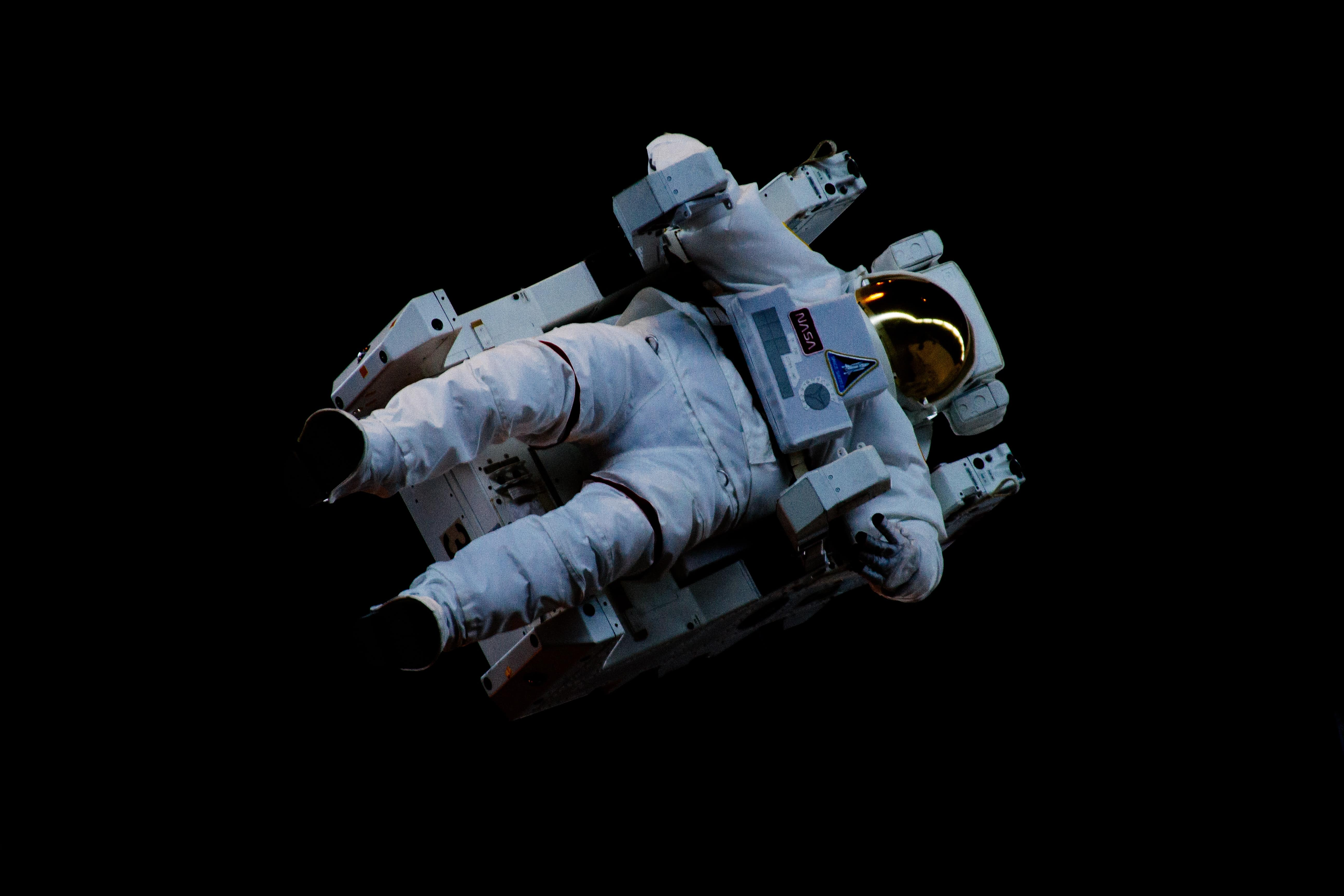 An Astronaut floating in the space