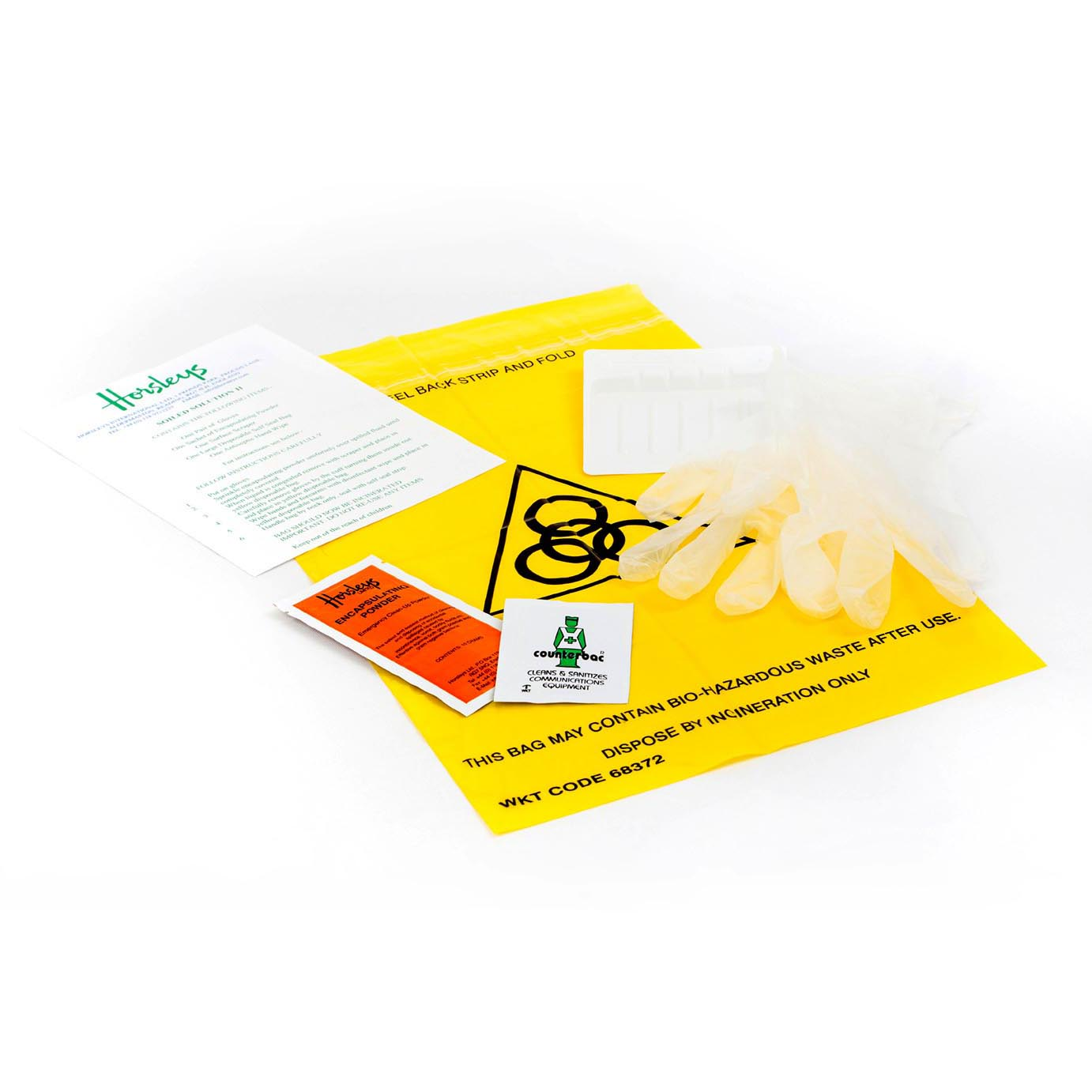 aircradft accident and spill cleaning kit from Horsleys