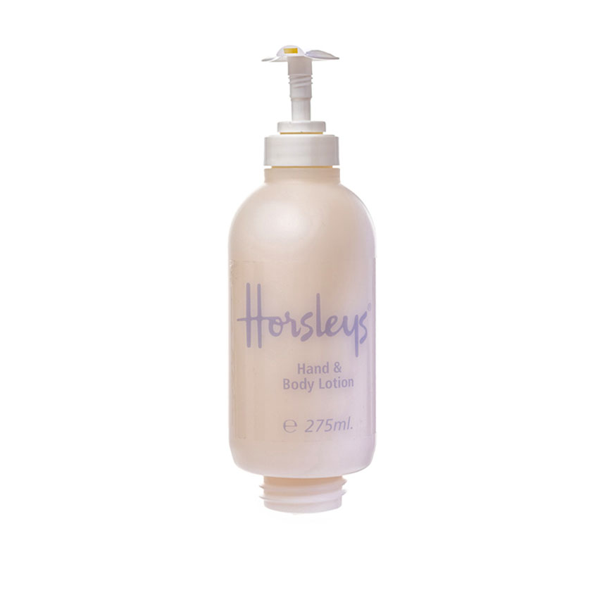 airline hand and body lotion dispenser from Horsleys