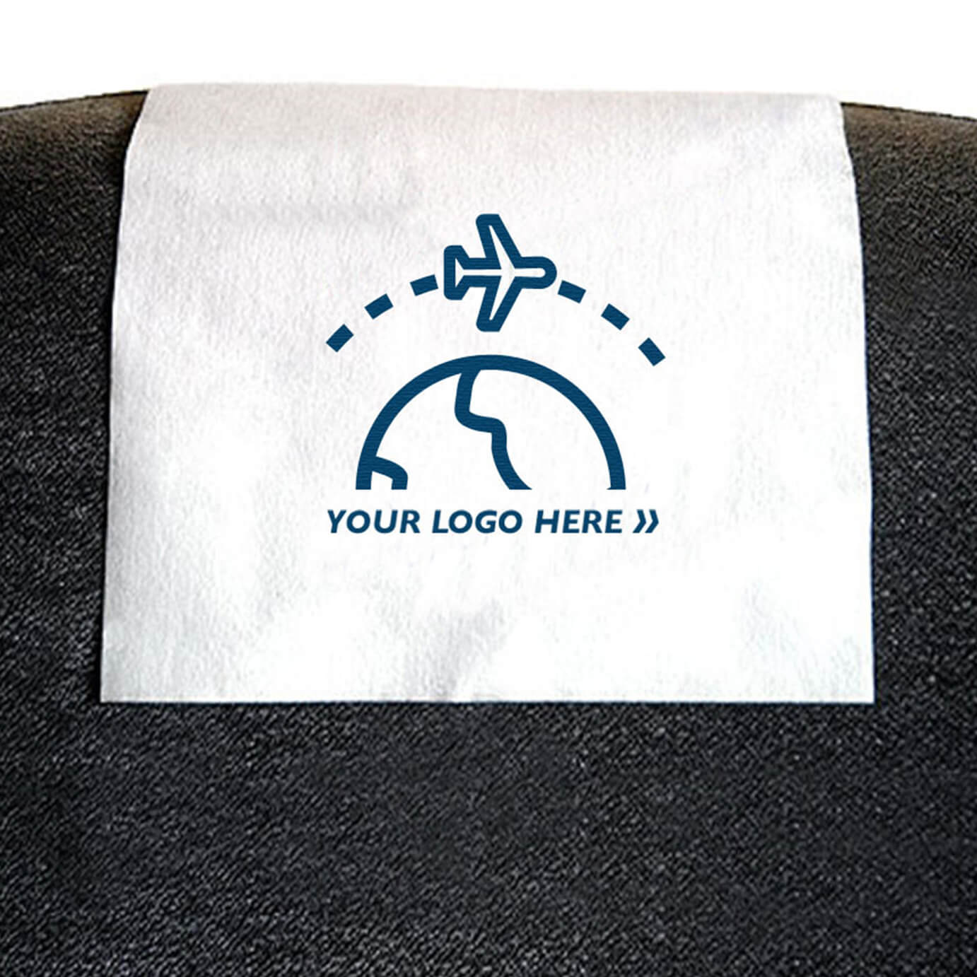 Headrest covers for airlines
