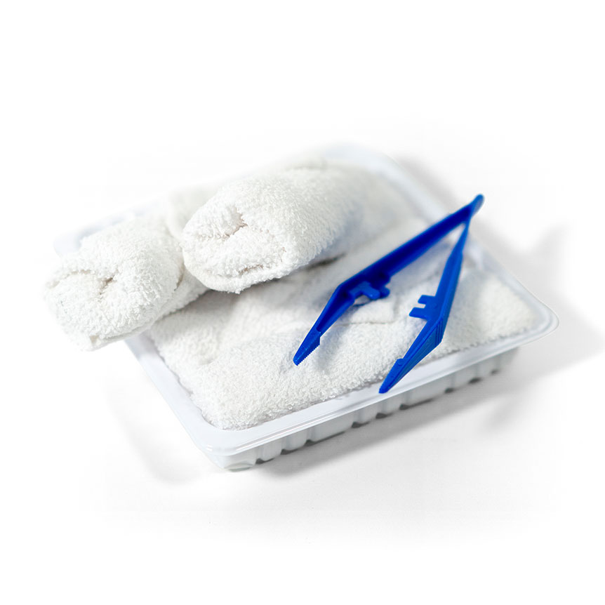 Hot and cold towels for airlines