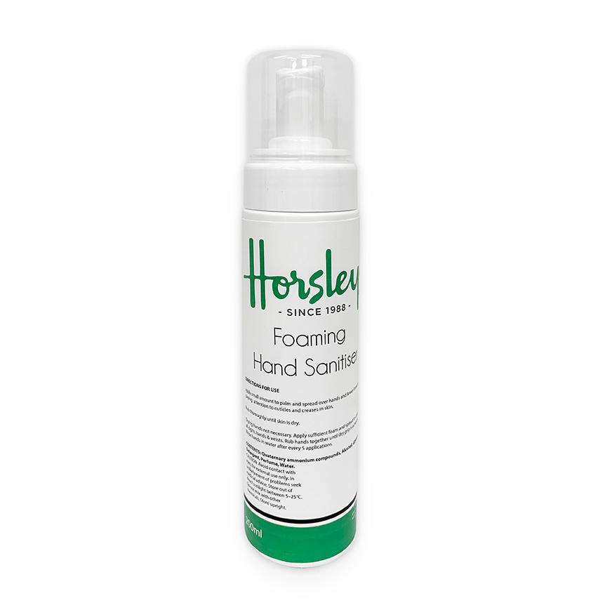 Horsleys foaming hand sanitiser