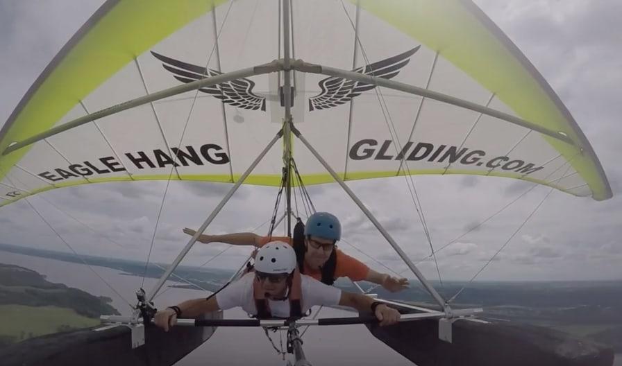 wish recipient michael b hang gliding