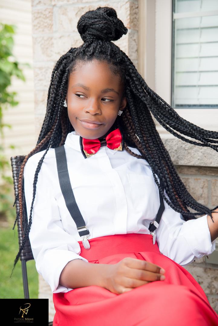 Girl wearing bowtie