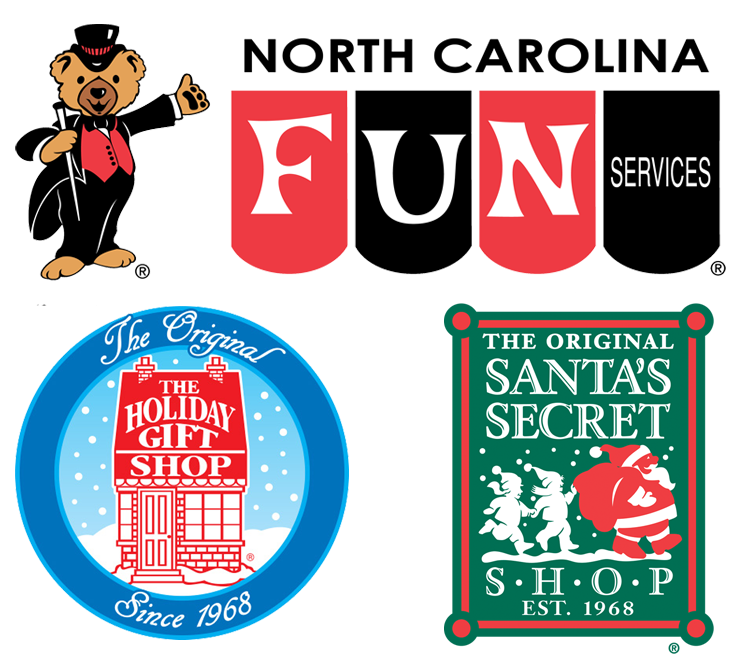 Fun Services Logo w/holiday shop badges