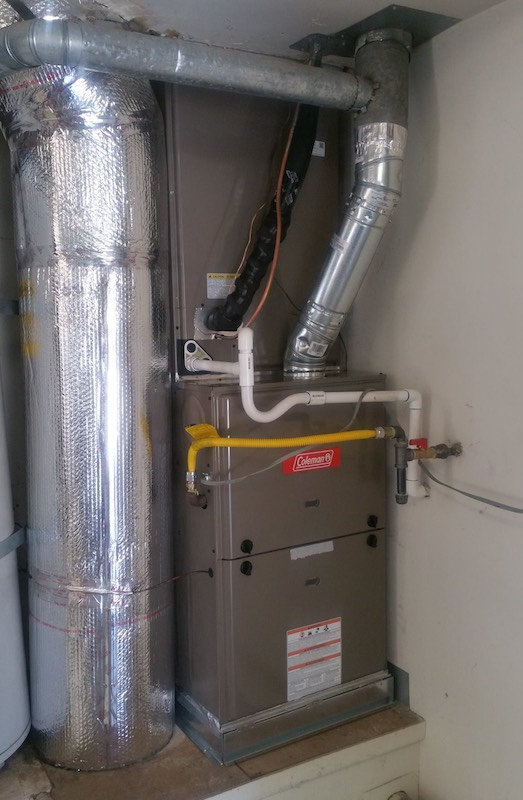 New Coleman Furnace installed by Faciono Heating And Air