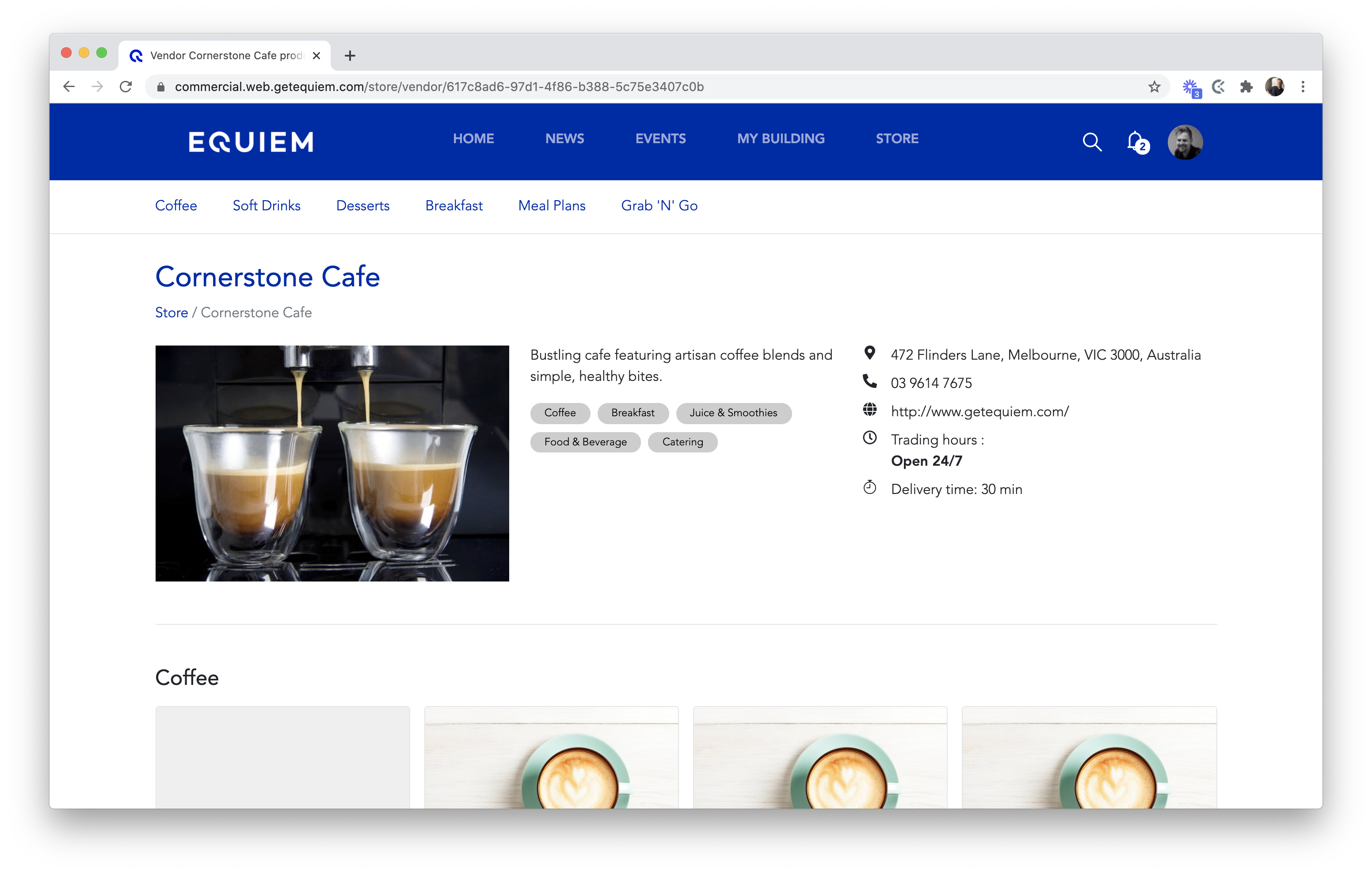 Equiem e-commerce retailer pages.