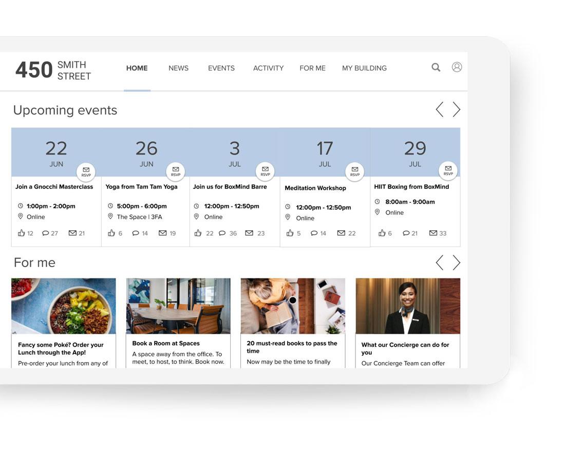 Community Engagement App   Equiem Tenant Portal